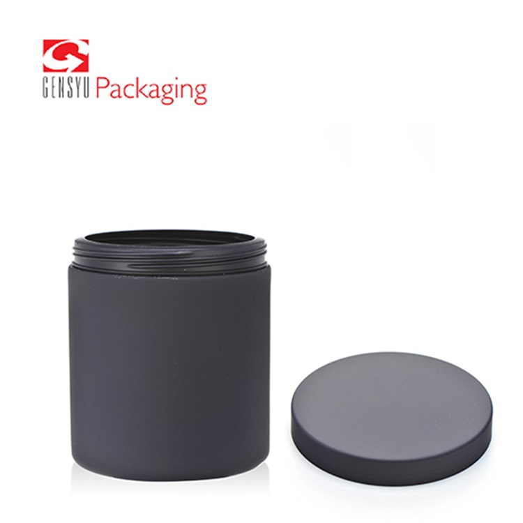 Black Food Grade Pill Bottle With Lid For Health