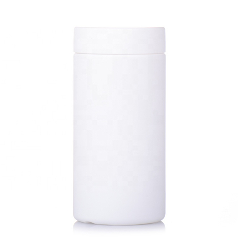 Plastic Round Protein Supplement Bottle