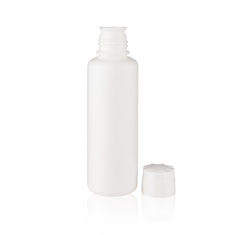 White Classic Liquid Bottle with Printed Logo