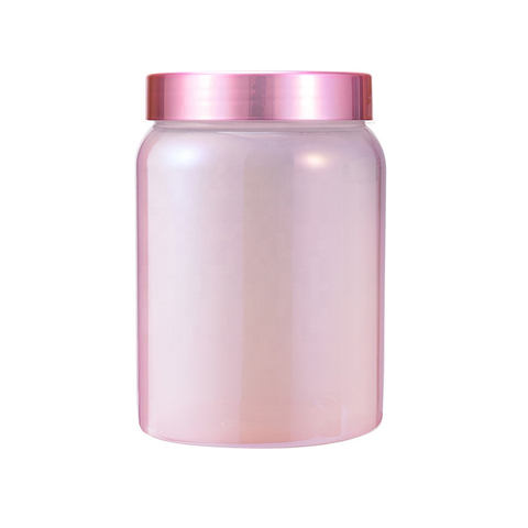 High Quality Chrome Treatment 200ML Capsule Pink Plastic Pet Bottle