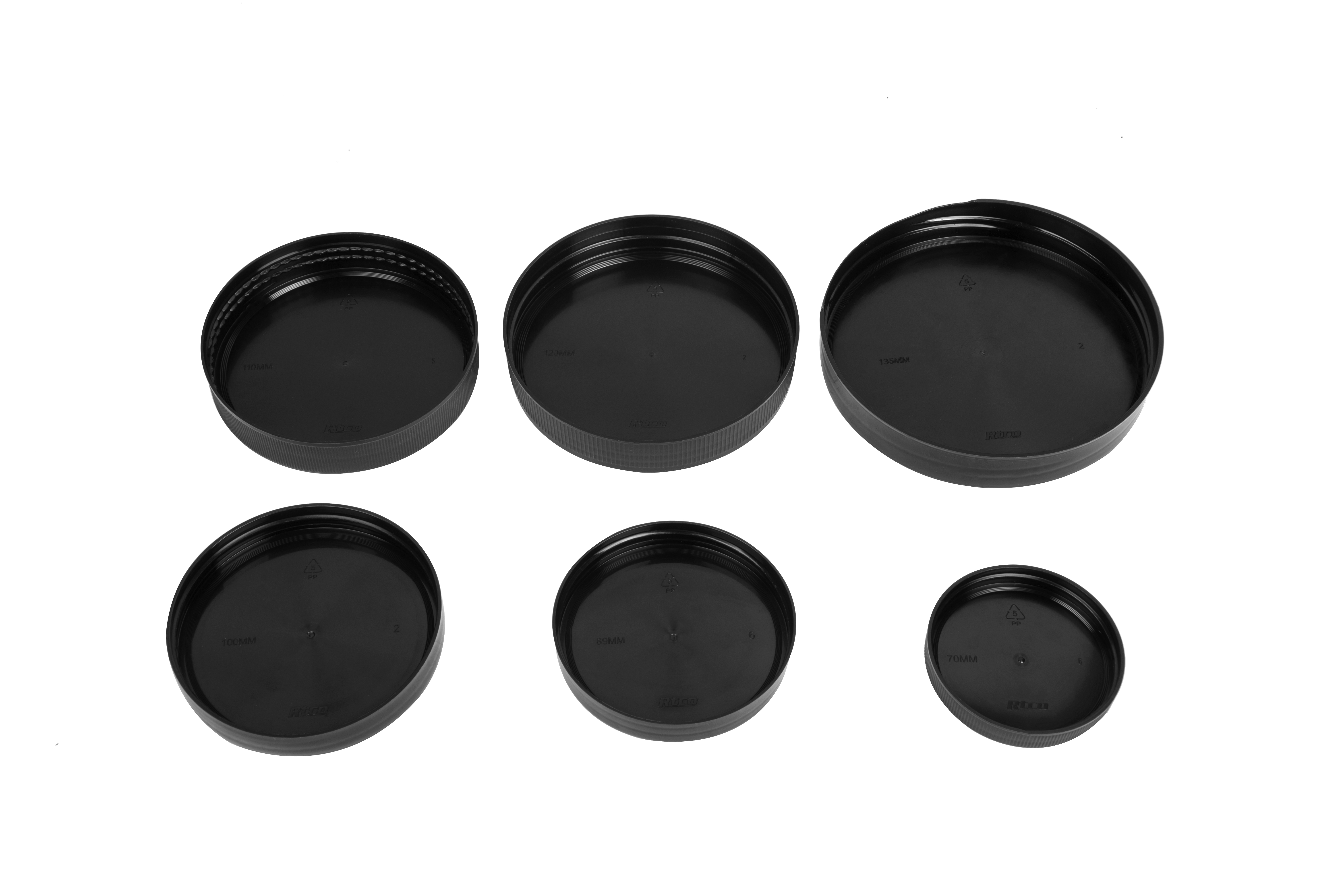 Approved Supplement Vitamins Packaging 89mm Plastic Black Cap Lid